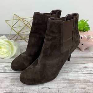 Ann Taylor Loft | Brown Suede Leather Ankle Boots
